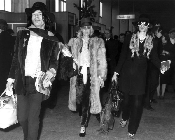 Keith Richards, Mick jagger and anita pallenberg