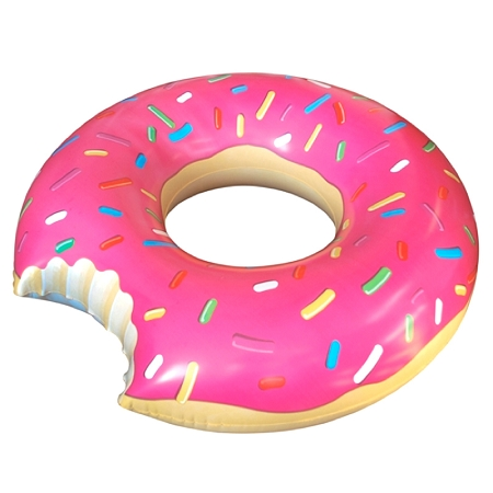 Needles & Notion Inflatable Pink Doughnut