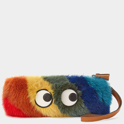 Anya Hindmarch Rainbow Mink Pencil Case