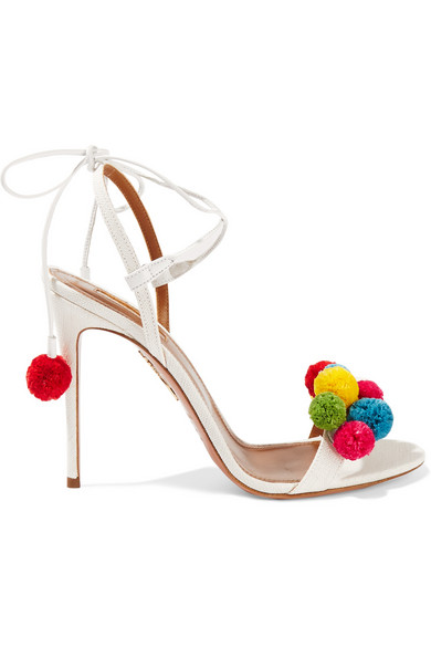 Aquazzura Pom Pom Sandals