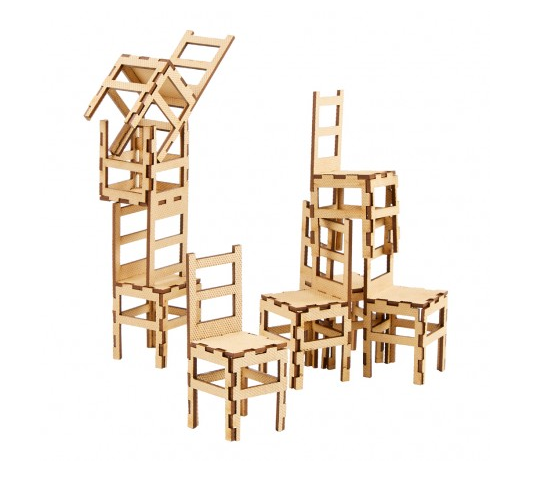 Stacking Chairs Sculpture