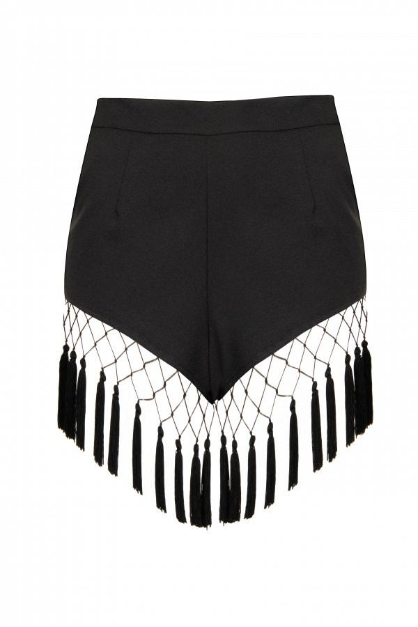 Black Tassle Shorts, Dhs135, Lavish Alice